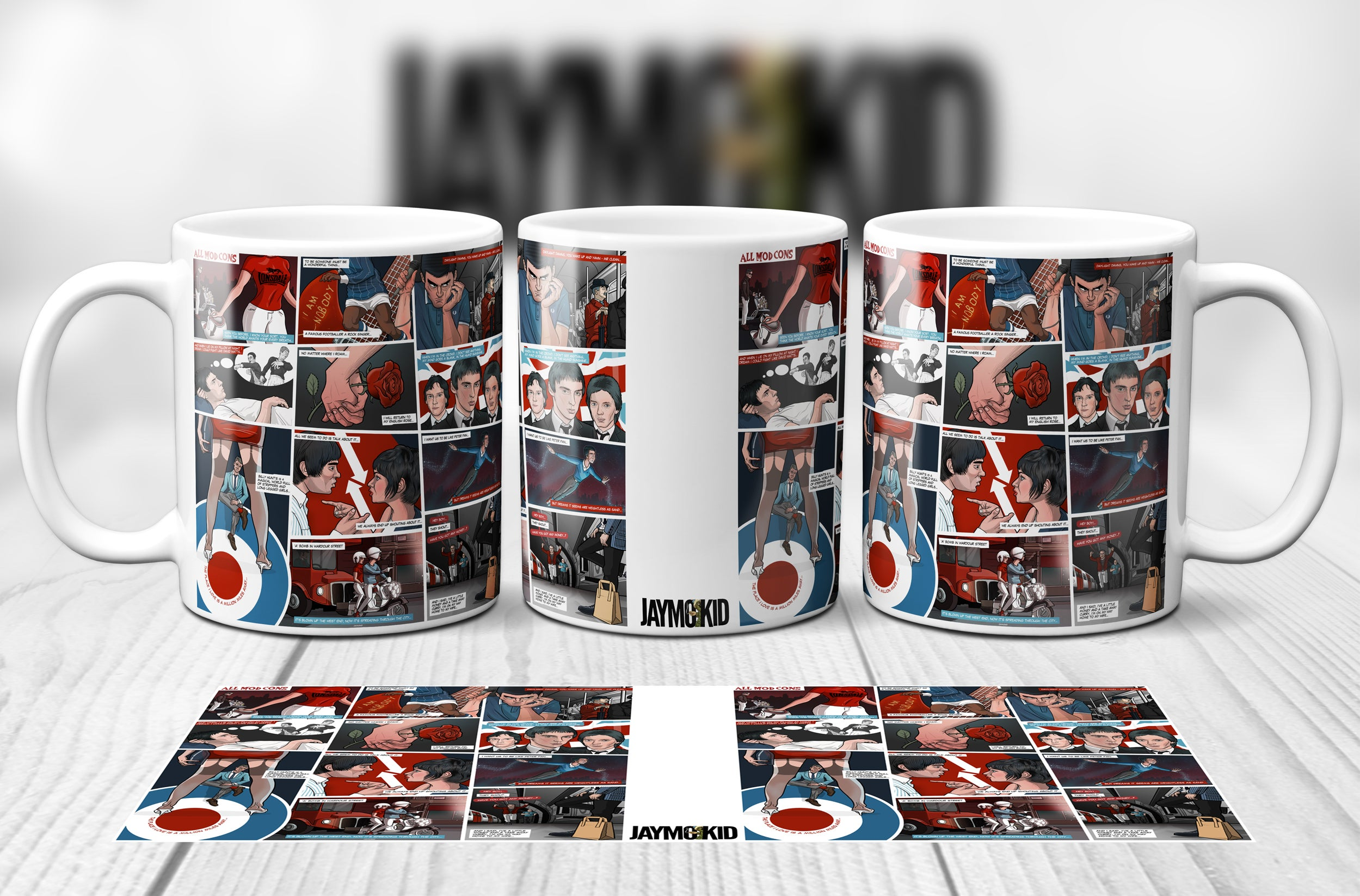 The Jam - Collectable Mod Mug Boxed New Paul Weller This Is The Modern World