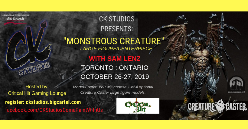 Image of Monstrous Creature, Toronto with Sam Lenz - Oct 26-27 2019 (USD)