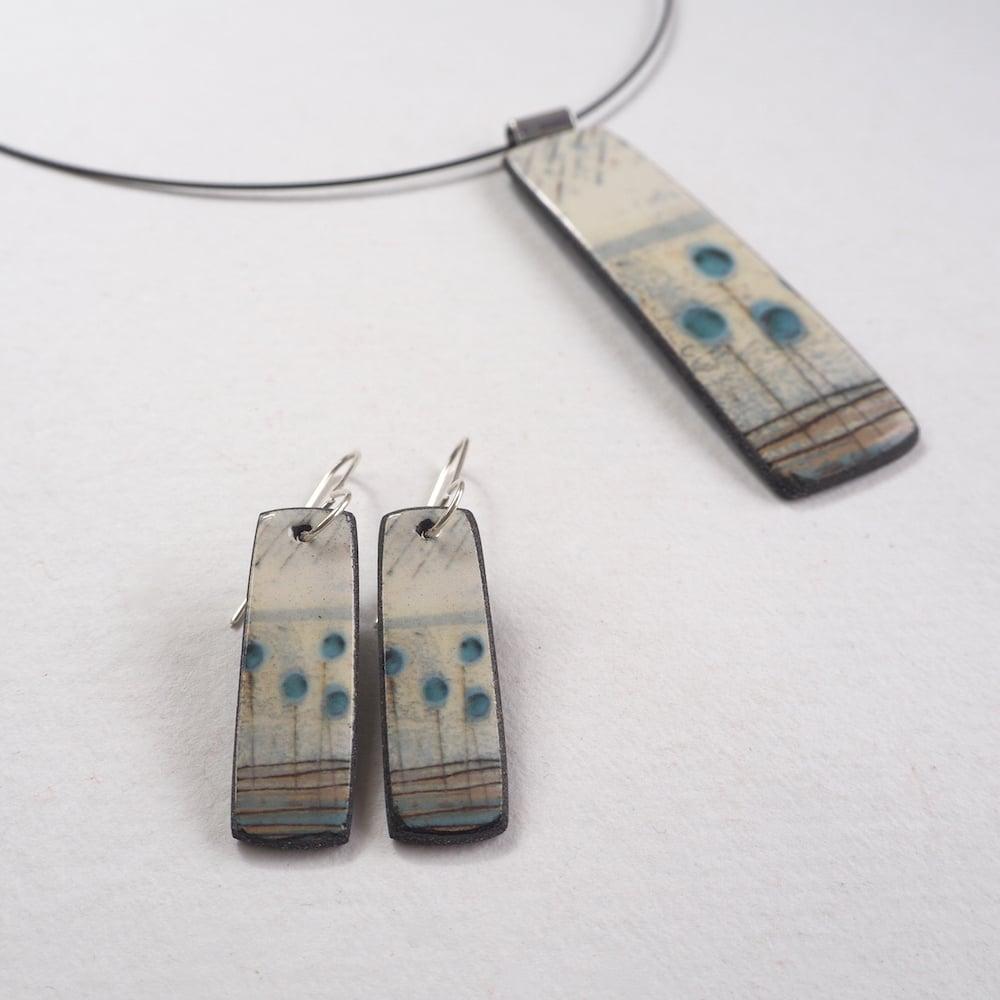 Image of Elements Range - Seed Heads Drop Porcelain Earrings