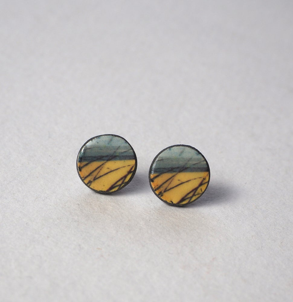 Image of Elements Range - Skyline Ceramic Earrings (Rounded)