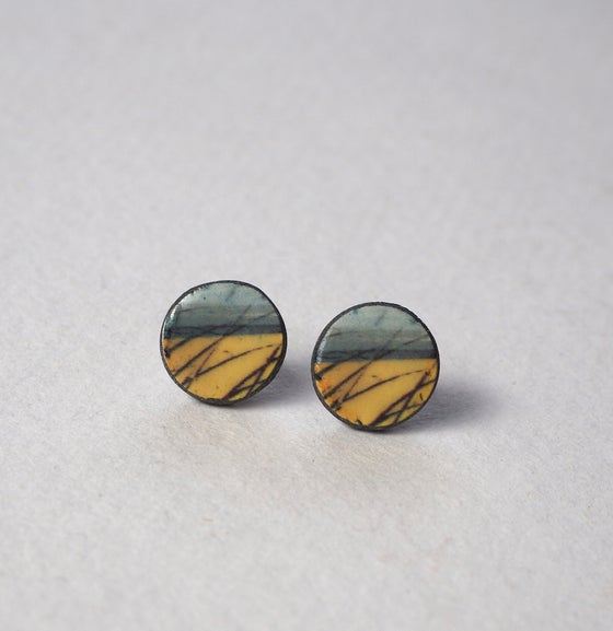 Image of Elements Range - Skyline Ceramic Earrings (Rounded)