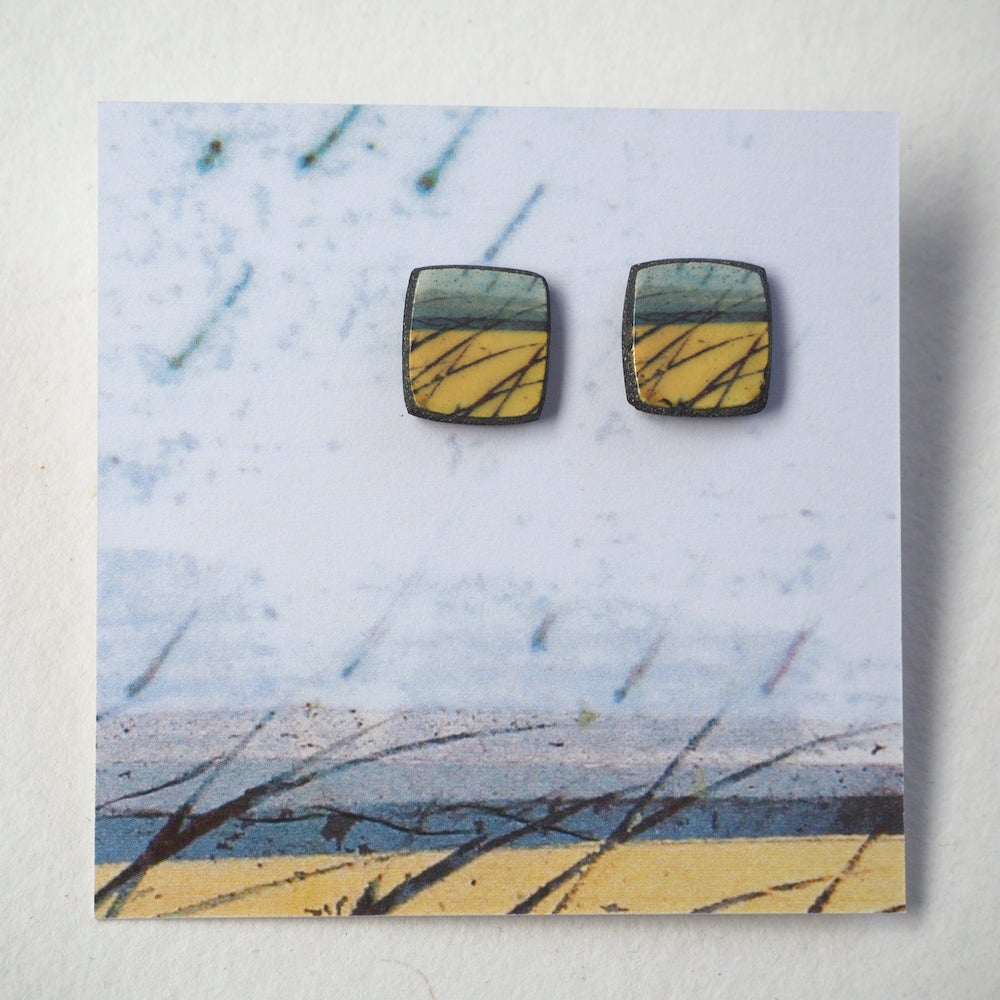 Image of Elements Range - Skyline Stud Earrings (Squared)