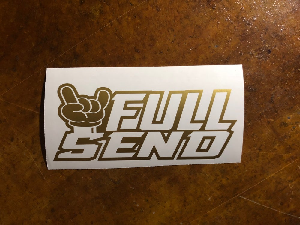 "Image of 10"" FULL SEND decal"