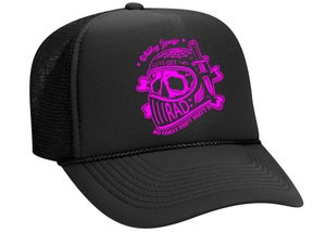Image of No Coast Drift Party 9 Limited Edition Pink / Black Trucker Hat