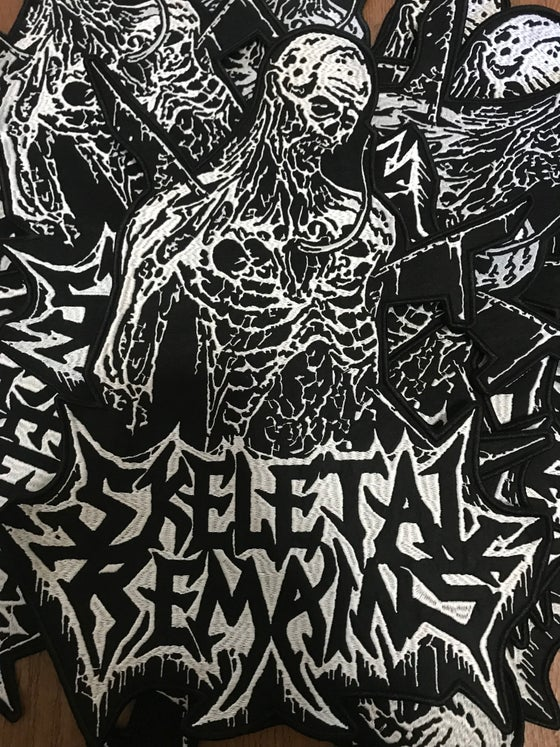 Image of Skeletal Remains Embroidered Backpatches