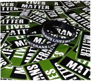 Veterans Lives Matter Wristband & Sticker