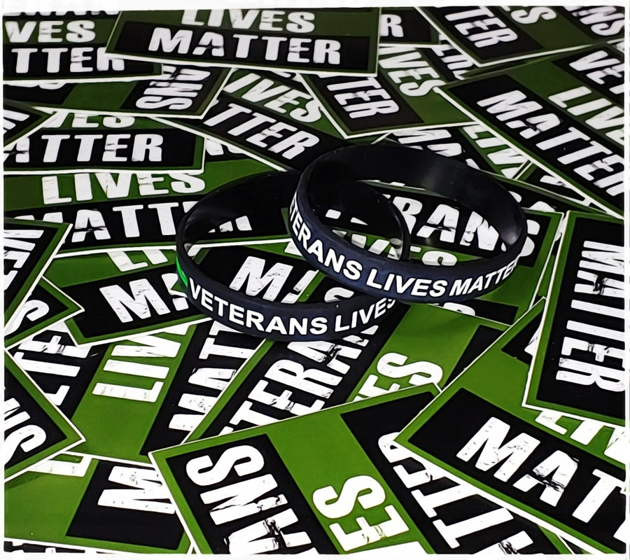 Image of Veterans Lives Matter Wristband & Sticker