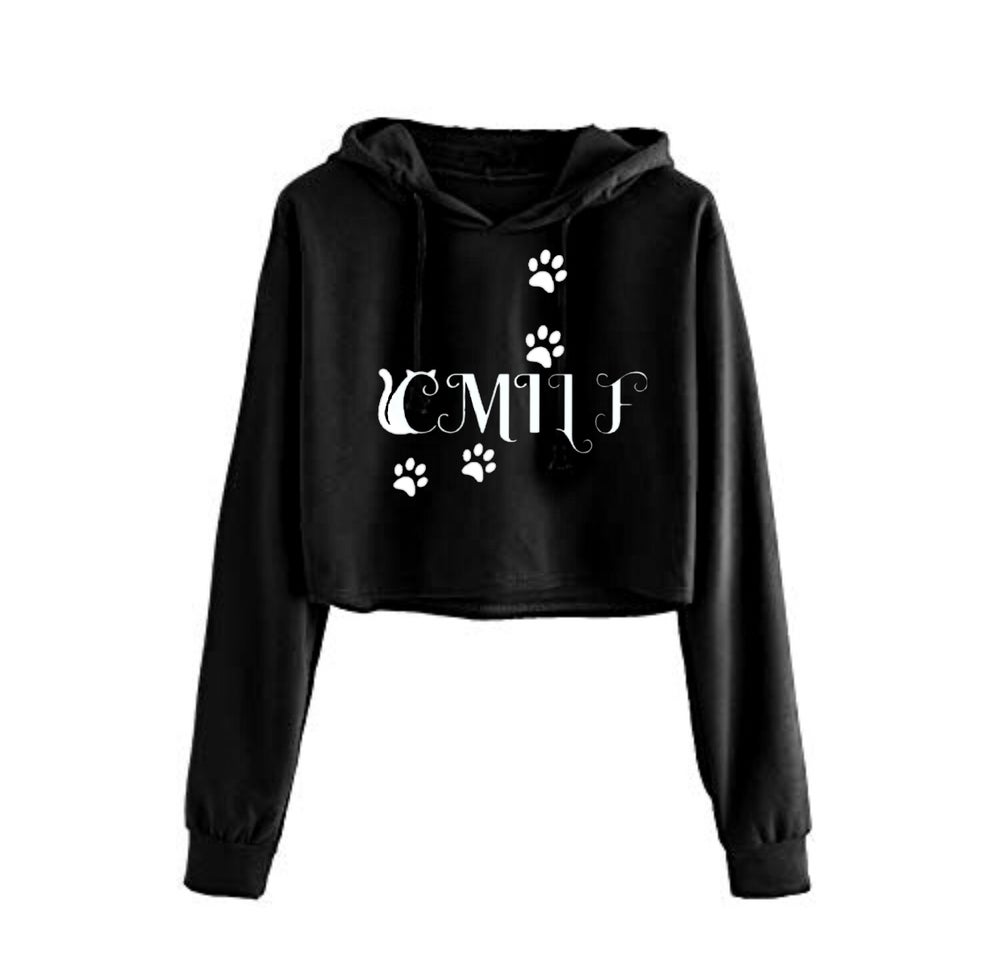 Image of C.M.I.L.F. Cropped Hoodie