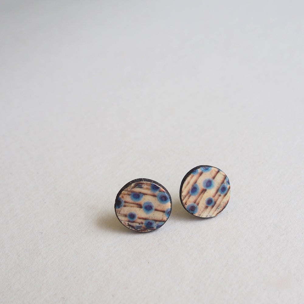 Image of Elements Range - Stems Porcelain Stud Earrings (Rounded)