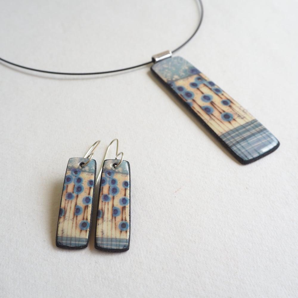 Image of Elements Range - Stems Drop Porcelain Earrings