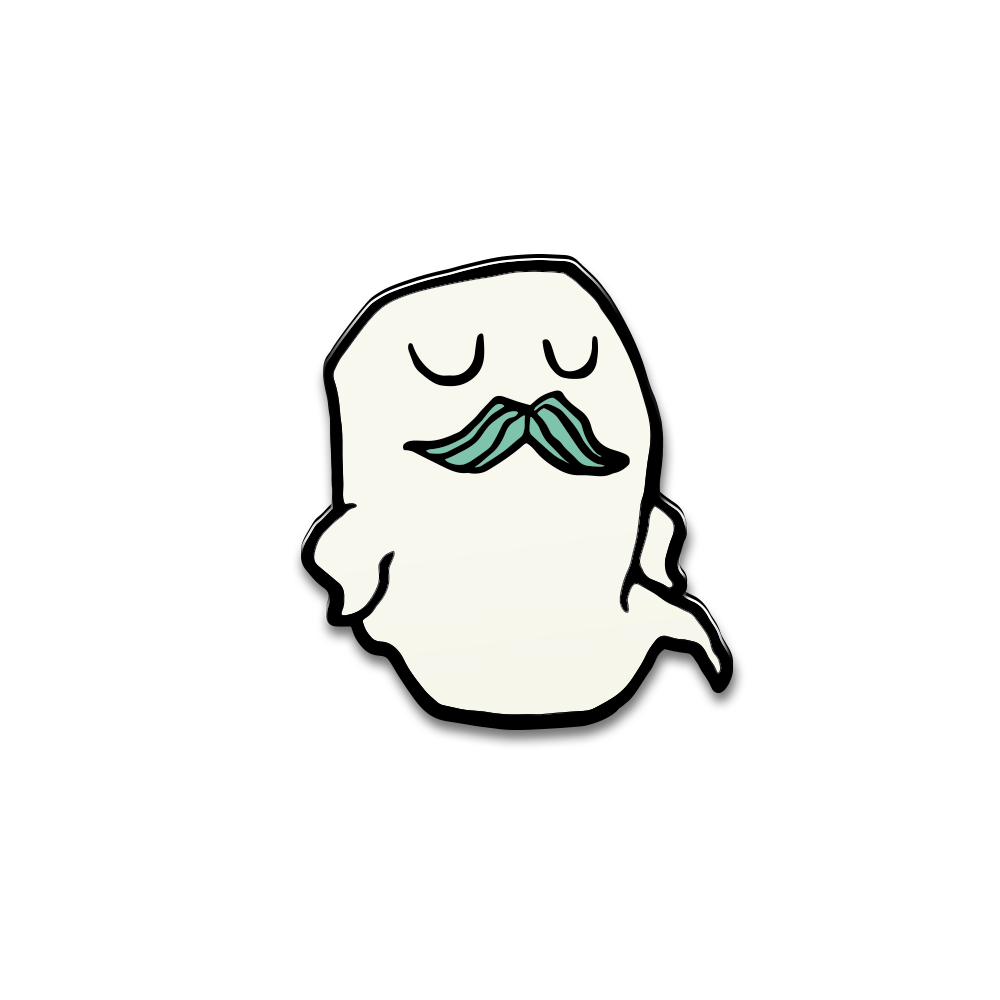 Image of Mustache Ghost Enamel Pin