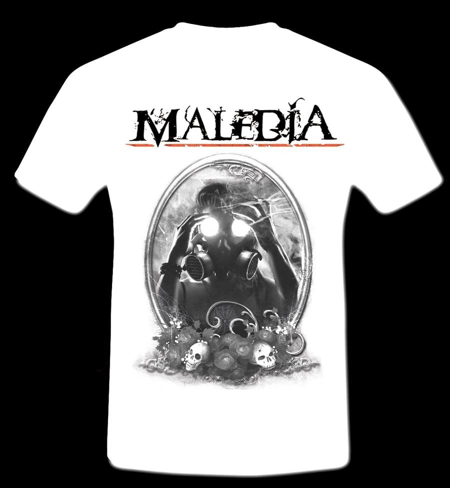 Image of T SHIRT - Maledia  (white)