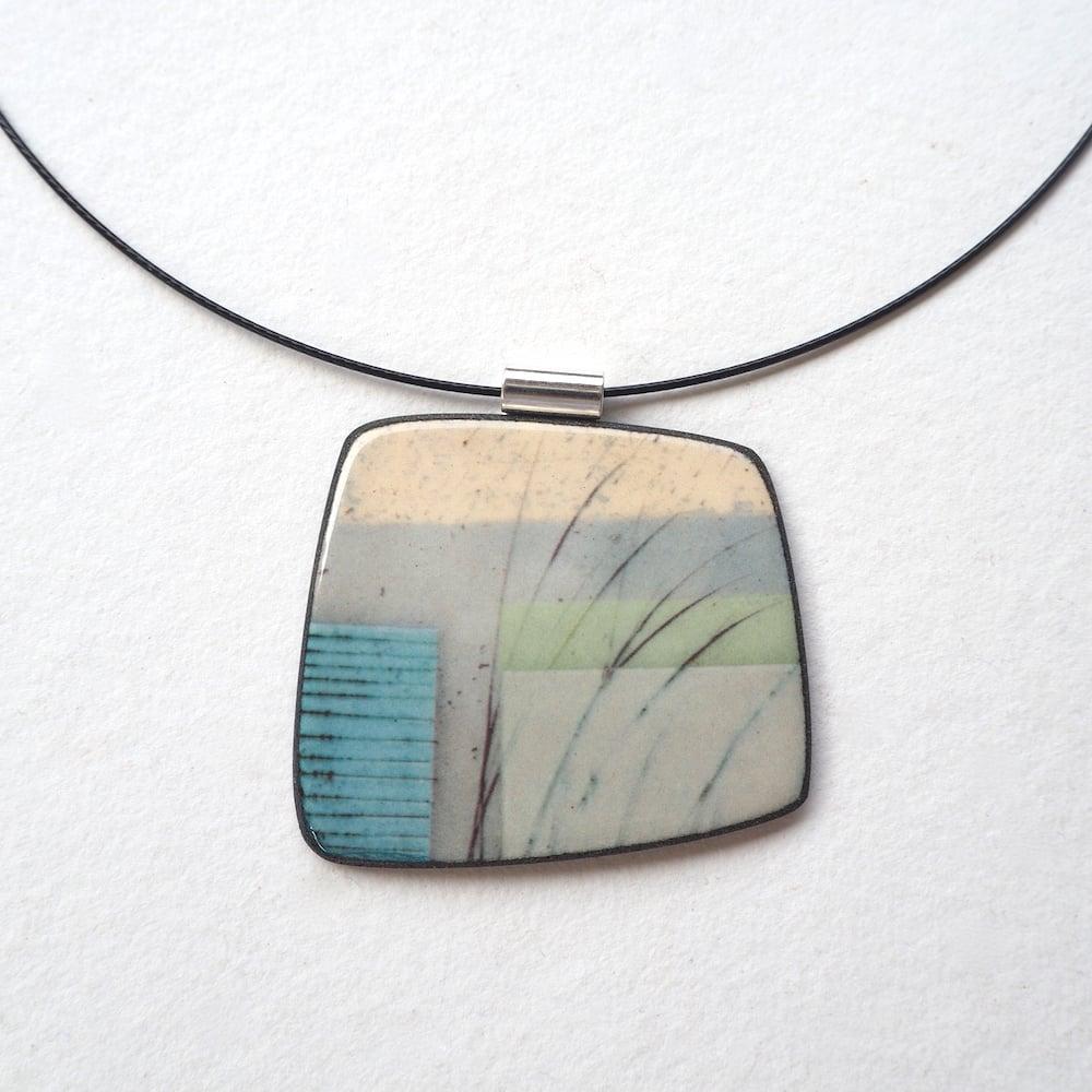 Image of Elements Range - Mere Porcelain Ceramic Necklace (Squared)