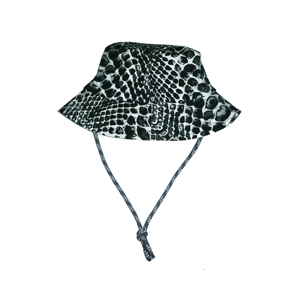 Image of Snakeskin Fisher Cap - Black
