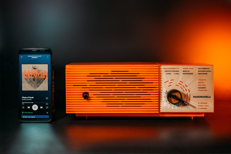 Image of RADIOMARELLI RD 329 ORANGE (1971) RADIO VINTAGE BLUETOOTH