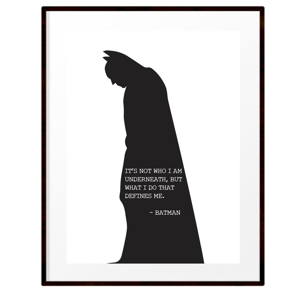 Image of Batman silhouette quote print