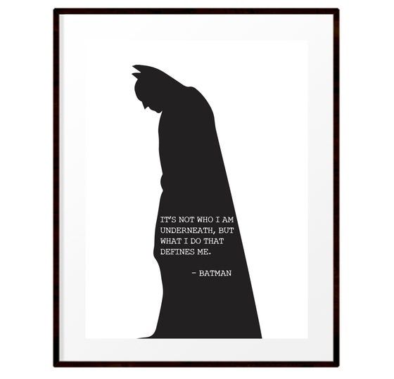 Image of Batman silhouette quote print