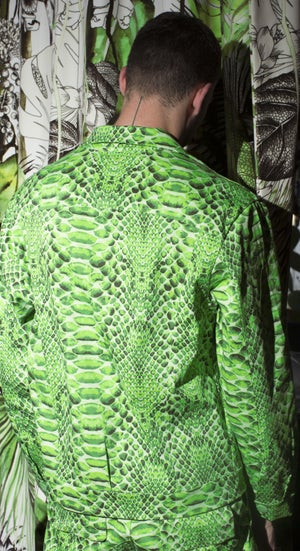 Image of Snakeskin Jacket - Green