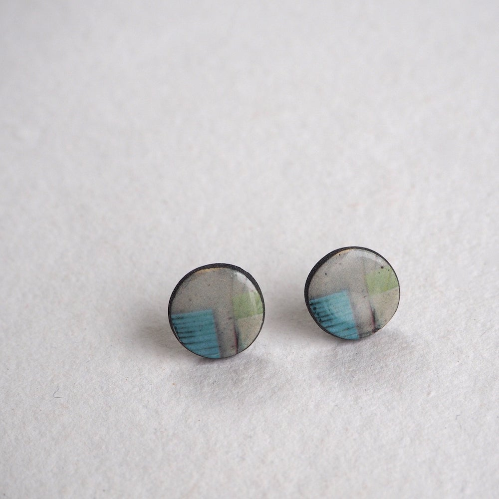 Image of Elements Range - Mere Stud Earrings (Rounded)