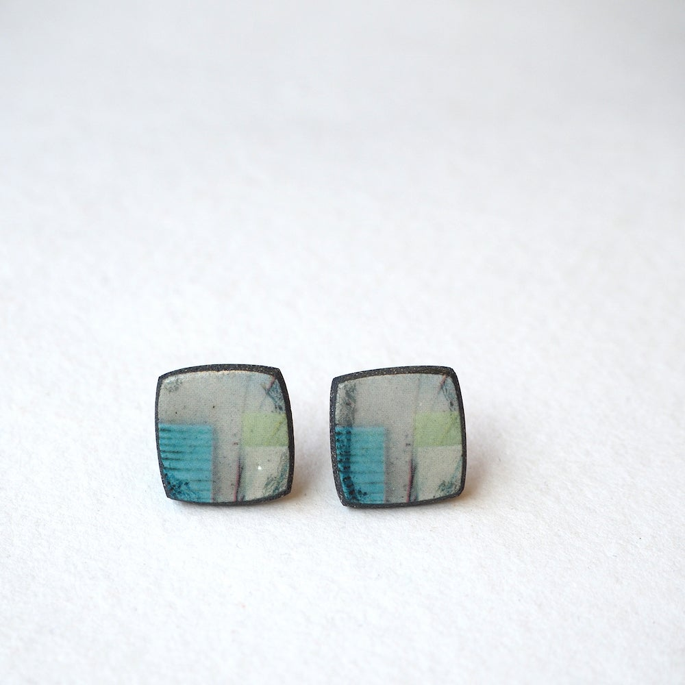 Image of Elements Range - Mere Stud Earrings (Squared)