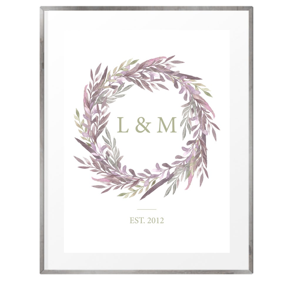 Image of Personalised couples initial print