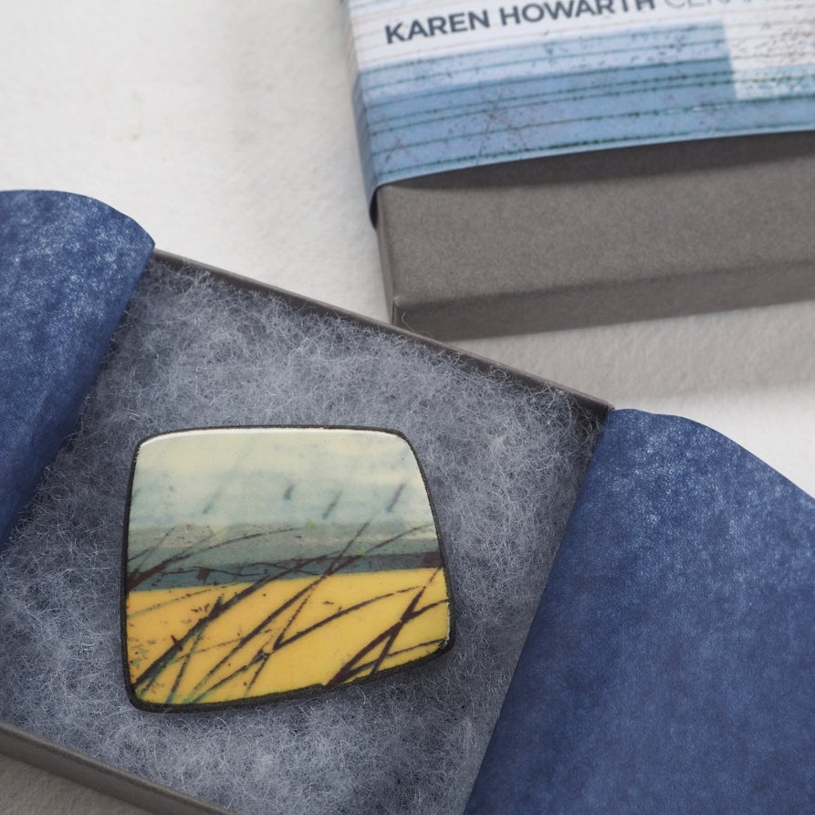 Image of Elements Range - Skyline Porcelain Brooch (Squared)