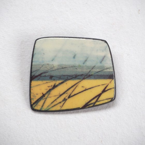 Image of Elements Range - Skyline Brooch (Squared)