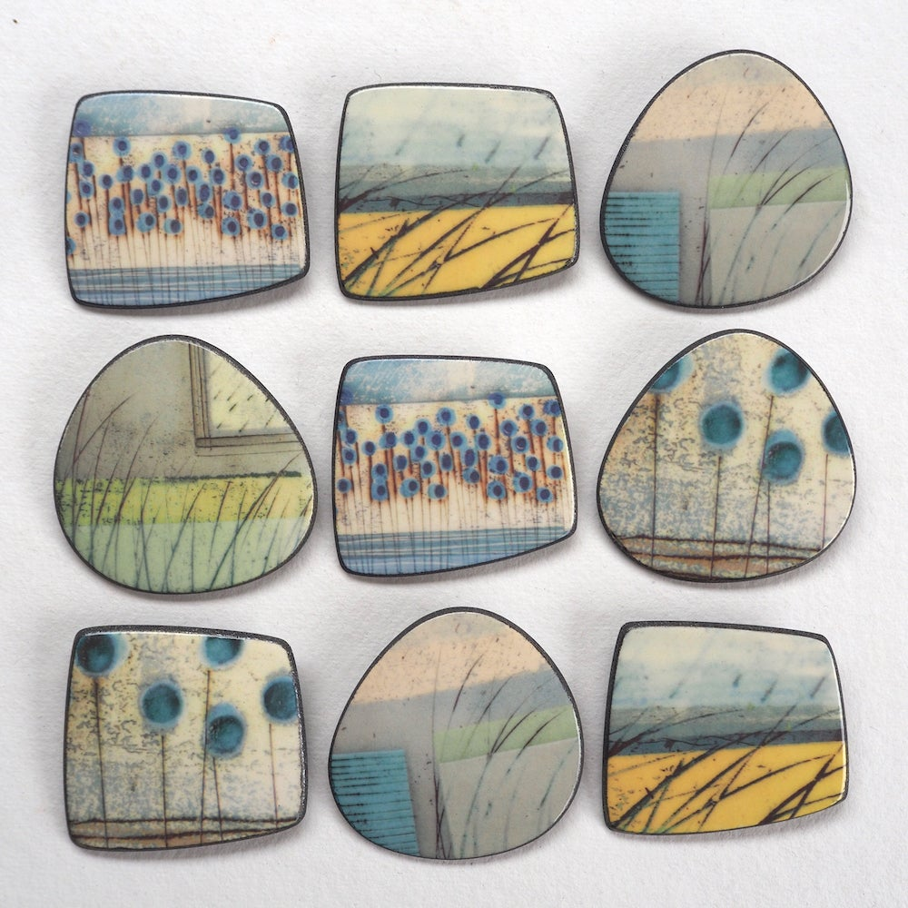 Image of Elements Range - Mere Brooch (Rounded)