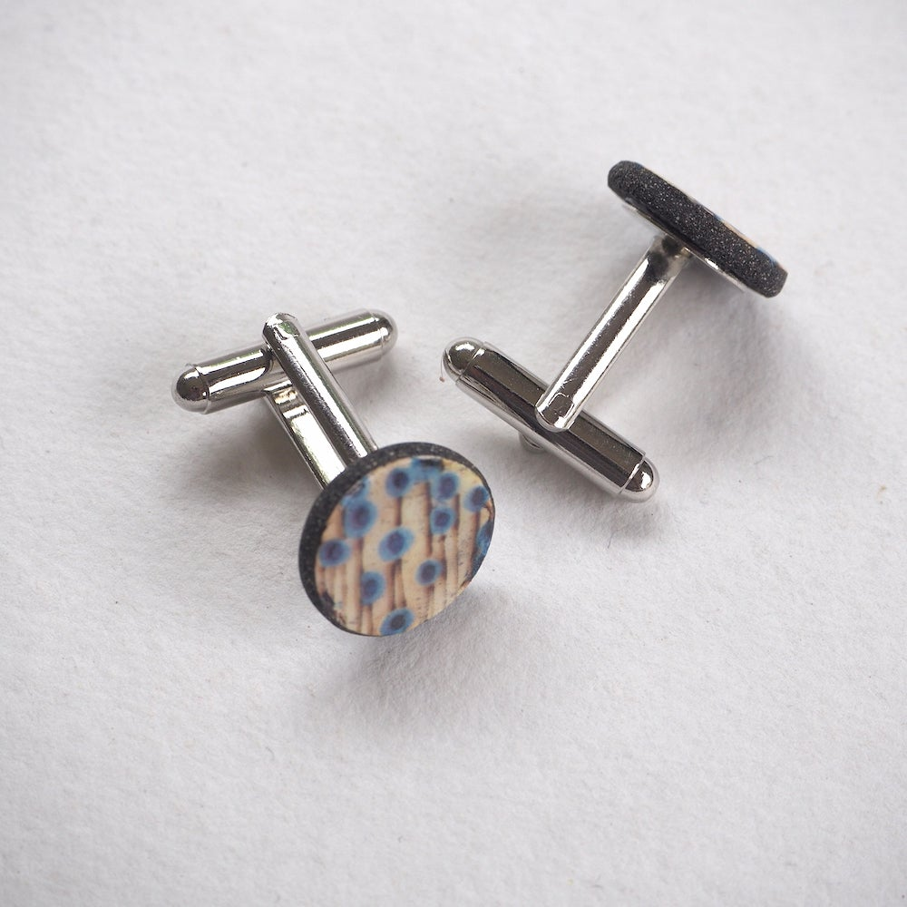 Image of Elements Range - Stems Porcelain Cufflinks (Rounded)