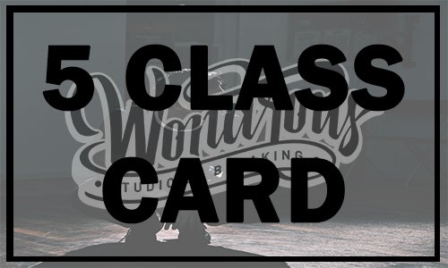 Image of 5 Class Card (Save $20)