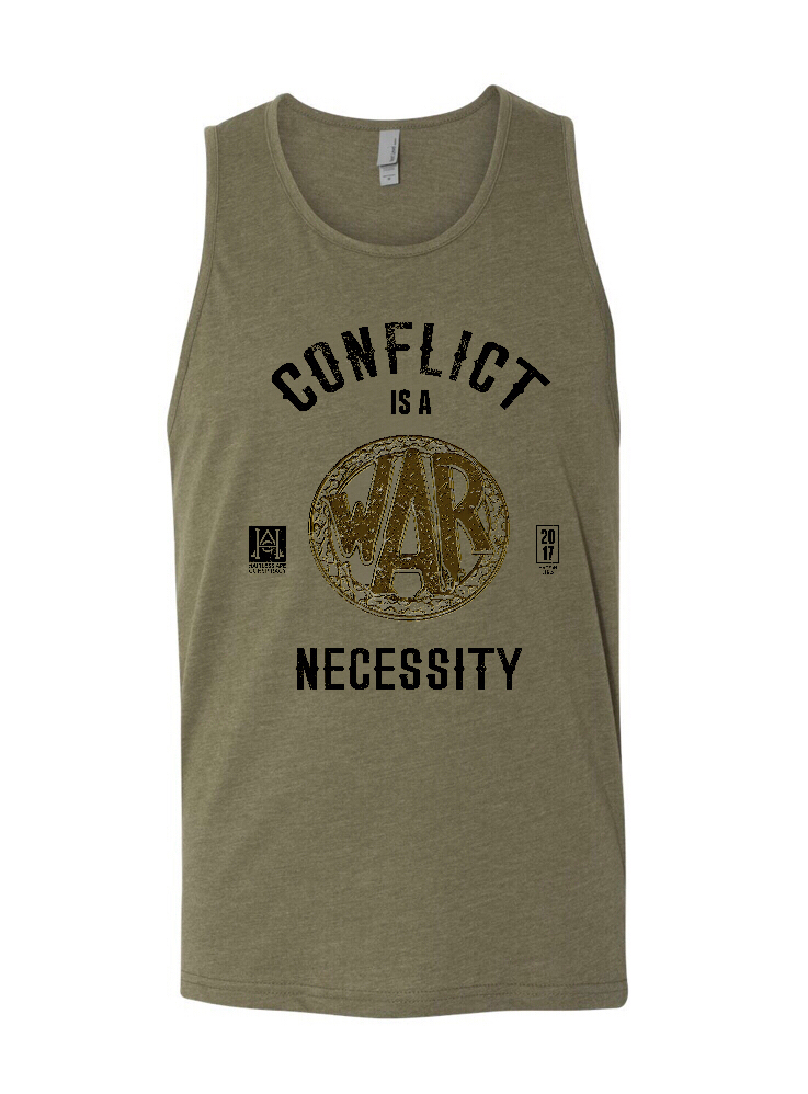 Image of HAC - Conflict is a Necessity/We Honor Military Green Tank Top