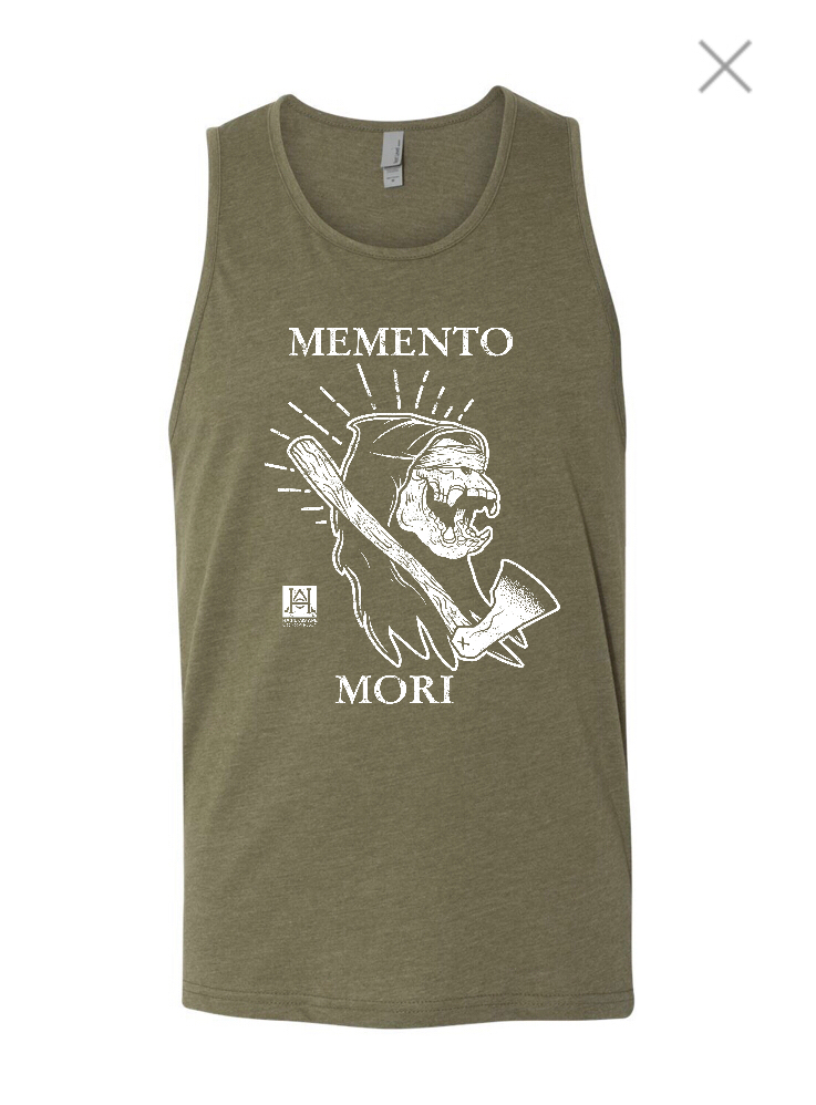 Image of HAC - Grim Ape Memento Mori/We'll Stop When They Throw Dirt On Us Military Green Tank