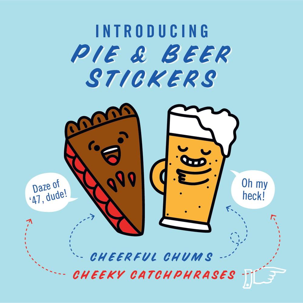 Pie & Beer Sticker Sheet