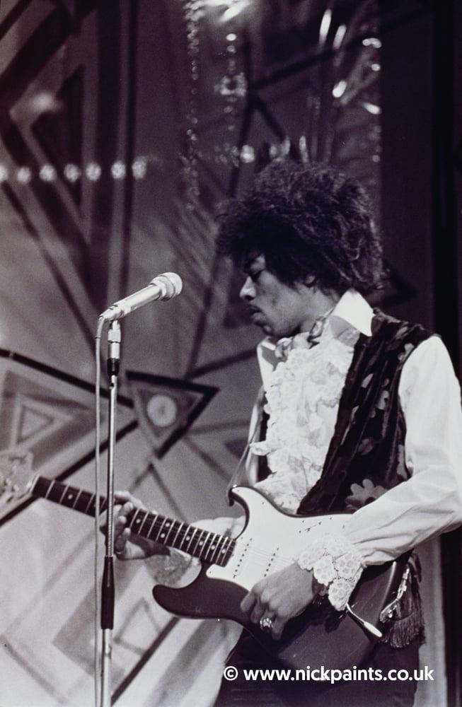 Image of Jimi Hendrix on stage