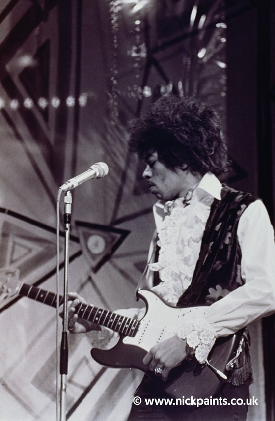 Image of Jimi Hendrix on stage