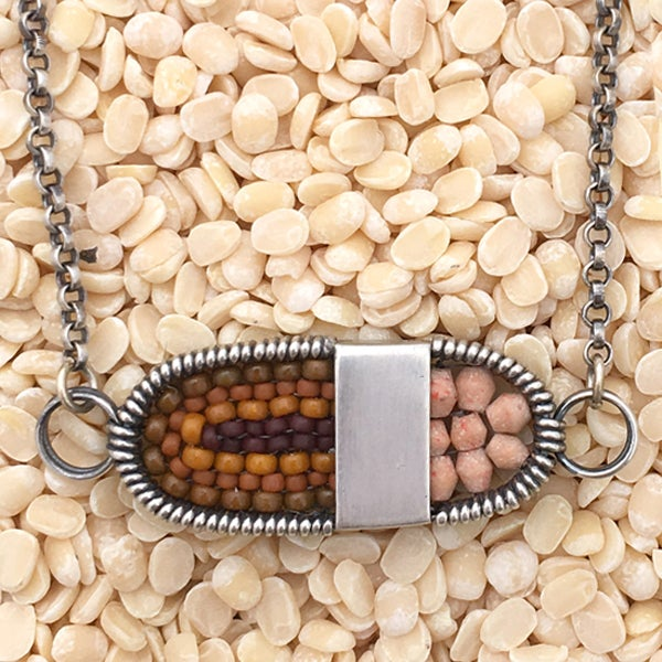 Image of Oval Pendant with Stones