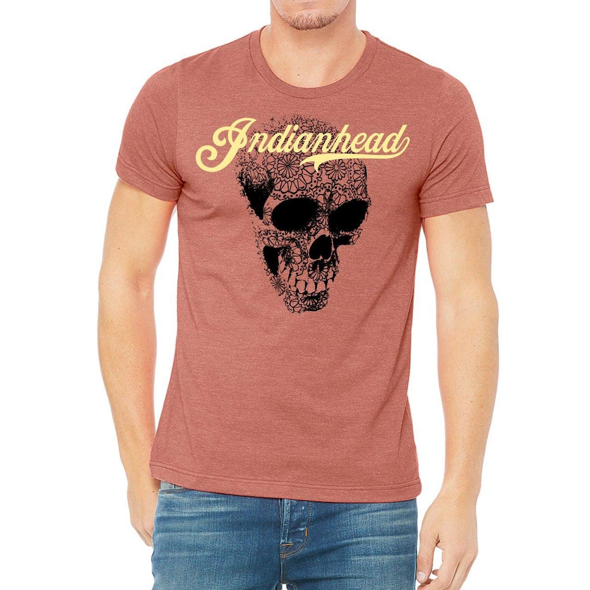 Image of Indianhead heather red T-shirt