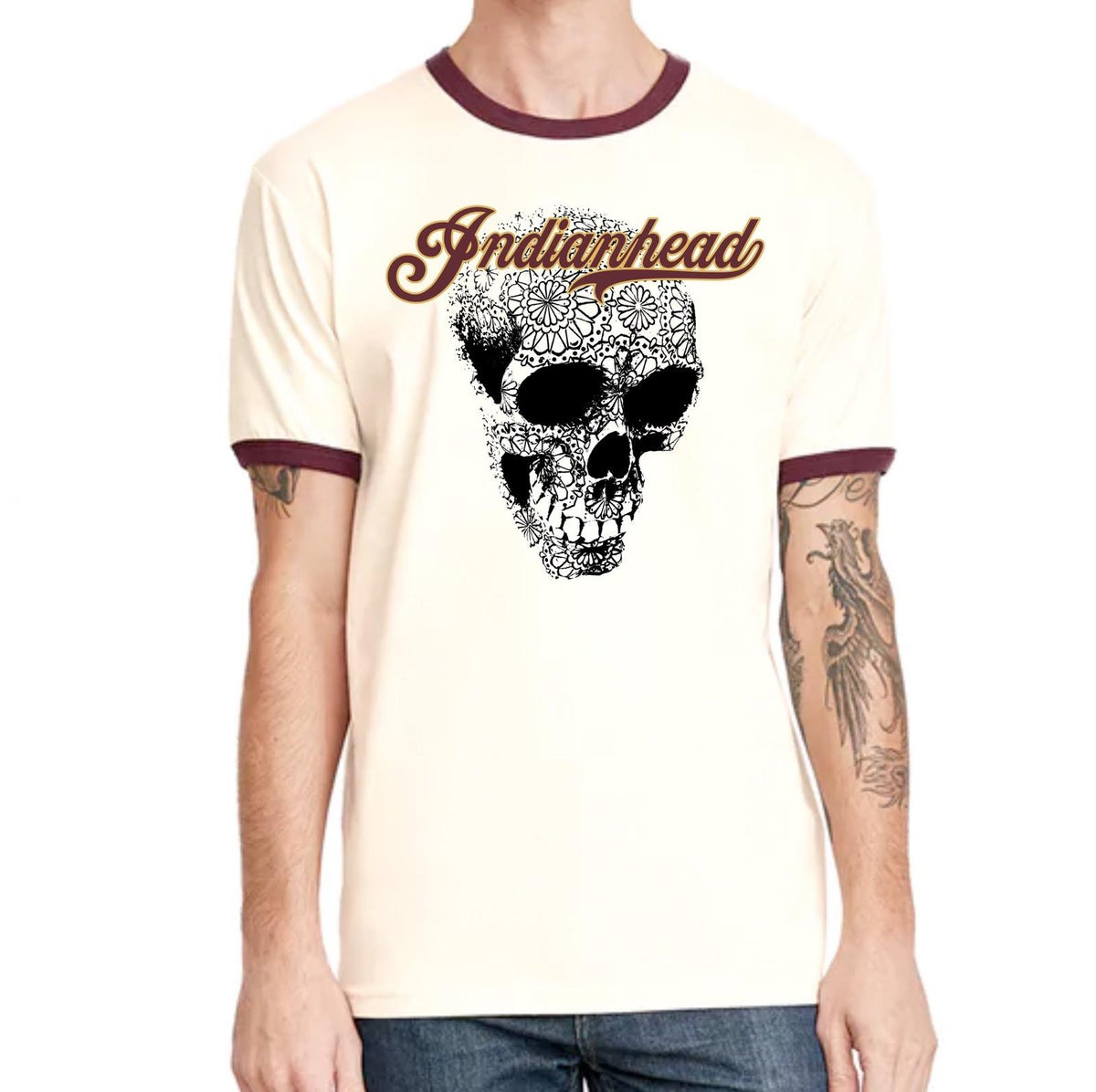 Image of Indianhead Ringer-style T-shirt