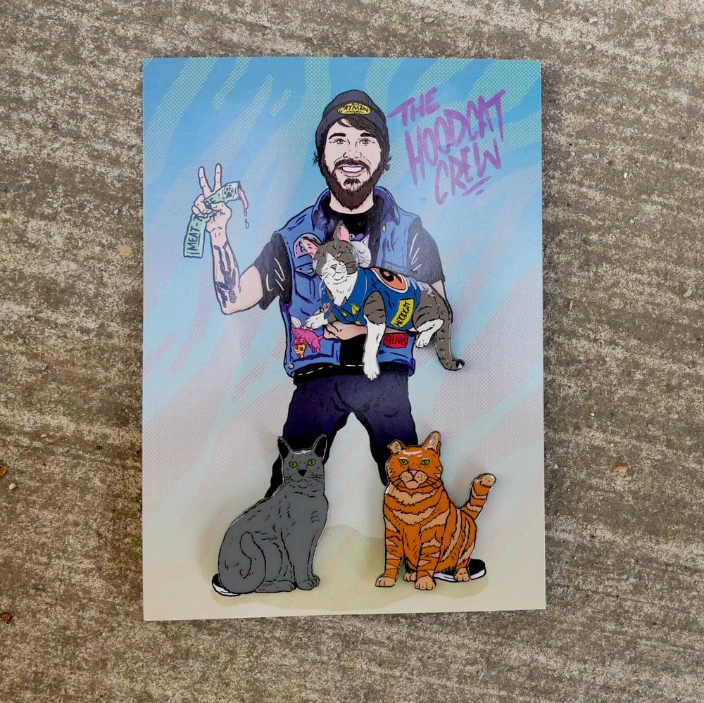 Image of Cat Man x Bob Motown 'The Hoodcat Crew' Pin Set