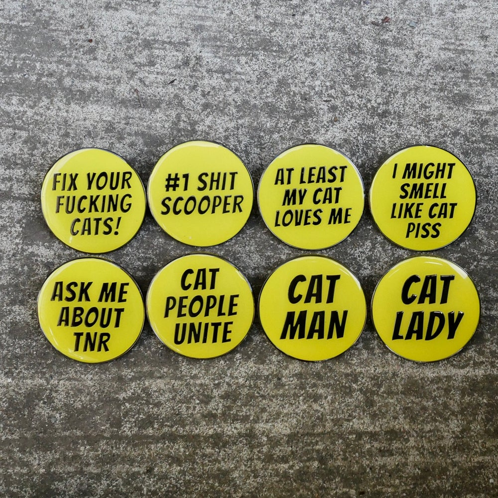 Image of Cat Man Message Pins