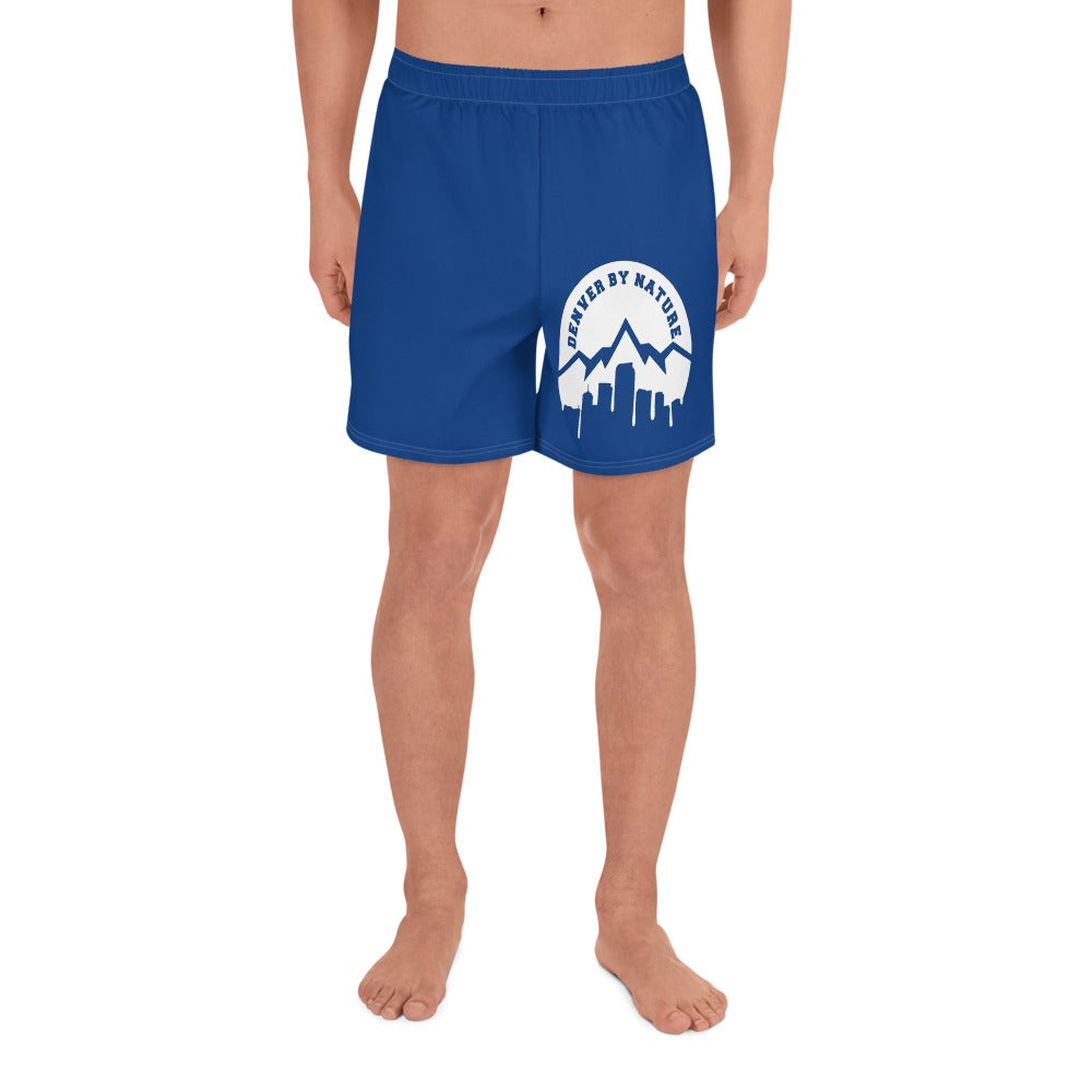 "Image of ""DBN' Men's Athletic Shorts - BLUE"