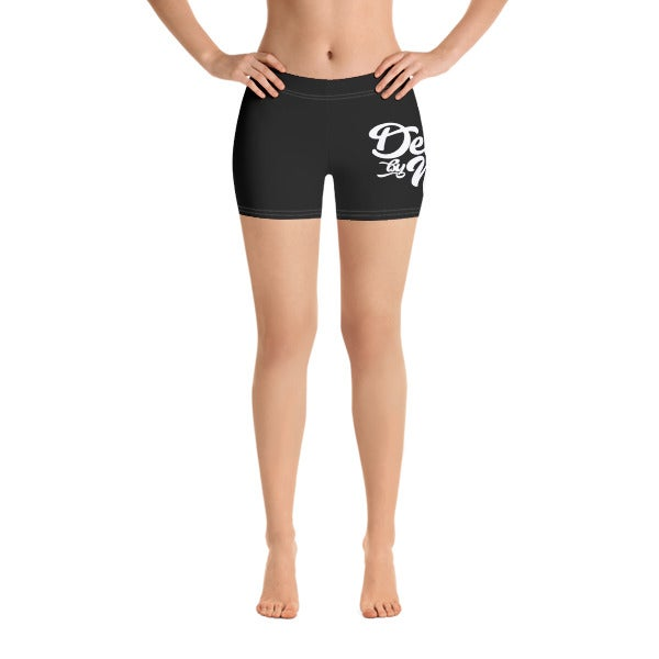 "Image of ""DBN"" Women's Biker Shorts - BLACK"