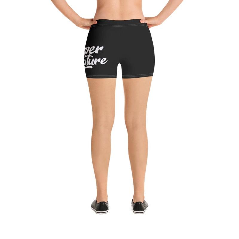 "Image of ""DBN"" Women's Biker Shorts - BLACK"