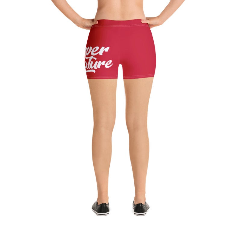 "Image of ""DBN"" Women's Biker Shorts - RED"