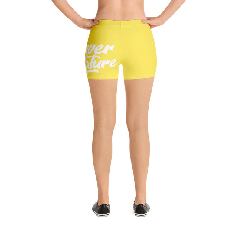 "Image of ""DBN"" Women's Biker Shorts - YELLOW"