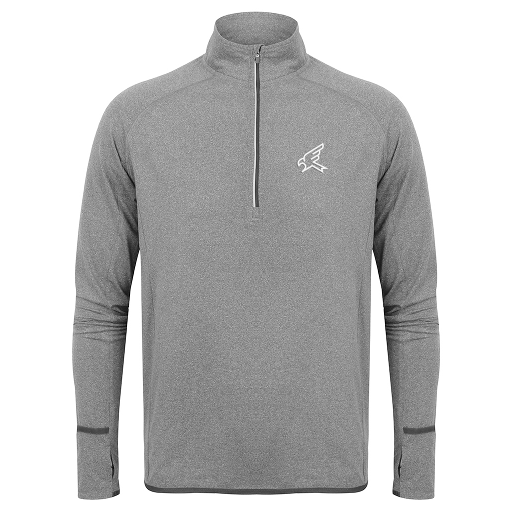 Image of Grey Marl Performance Track Top