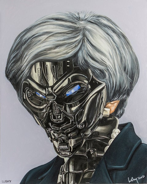 Image of Machine Men oil on canvas. Maybot