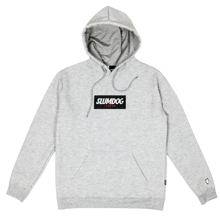 Image of LOGO HOODIE <br> HEATHER GREY
