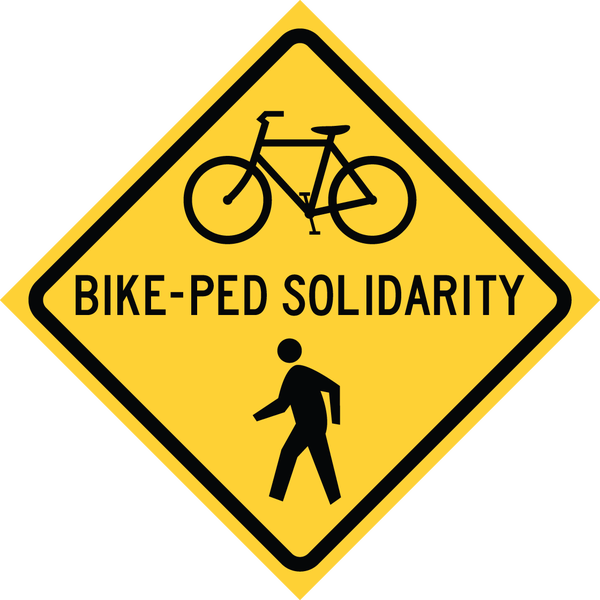 Image of PREORDER: Bike-Ped Solidarity Sticker