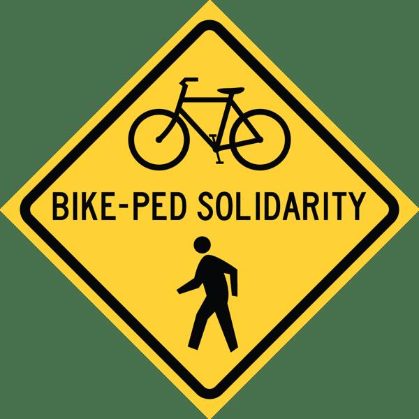Image of Bike-Ped Solidarity Sticker